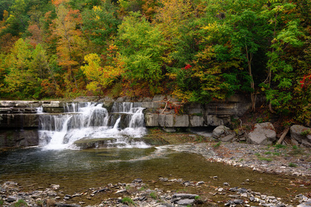 samll: One of the samll waterfalls at Taughannock Falls state park. Located in Ulysses New York.