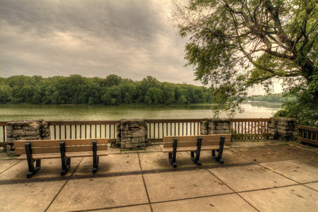 porches: The scenic overlook of the Maumee river at Bend View park in Waterville Ohio