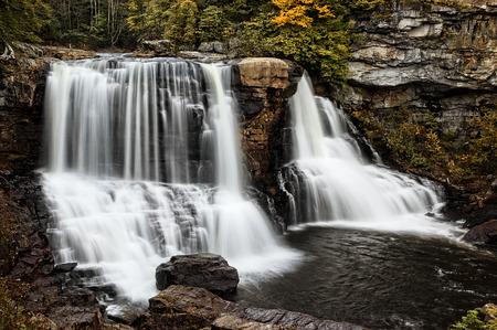 west virginia trees: Blackwatwer Falls West Virginia  during autumn colors.