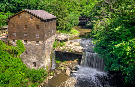 grist mill: The historic Lanterman s Grist Mill Stock Photo