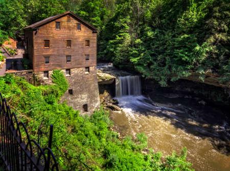 grist: Lo storico Lanterman s Grist Mill Archivio Fotografico