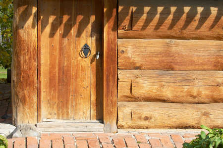 aged door in the felling photo