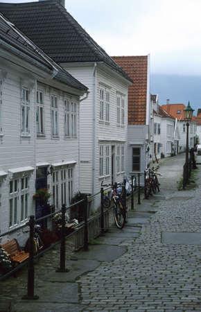 backstreet: Backstreet en Bergen, Noruega, casas de madera