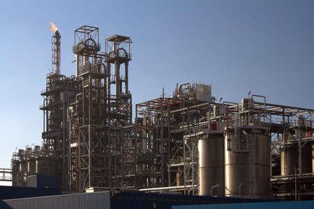 Oil refinery in a sunny day in Antwerp port