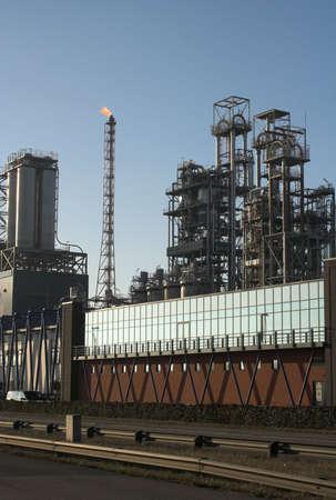 Oil refinery before sunset - Antwerp port Stock Photo - 818844