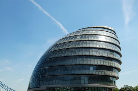 This is an image of the a building shaped in the form of an Alien Head