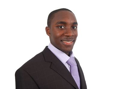 This is an image of a smiling business man. This image can be used to represent