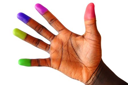 This is an image of a hand representing