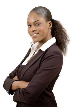 This is an image of a focussed business woman. Stock Photo