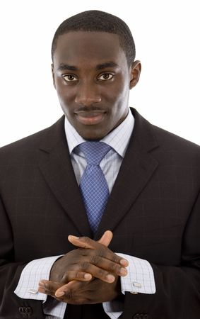 This is an image of a confident, focussed businessman. This image can be used to represent confidence themes.