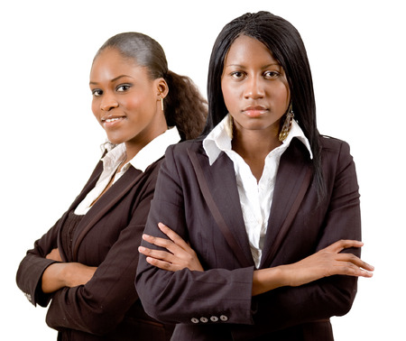 ceos: This is an image of a business team consisting of two businesswomen. This image can be used to represent anything that communicates Established Business Women.