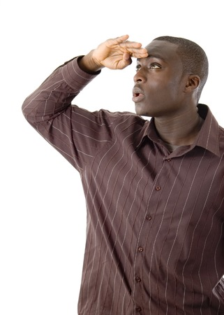 This is an image of a man seeking pose. Stock Photo