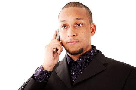 This is an image of businessman using a cellphone. photo