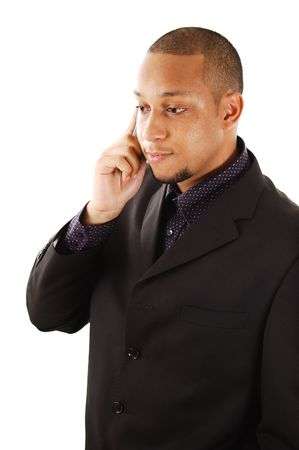 rescheduling: This is an image of businessman using a cellphone.