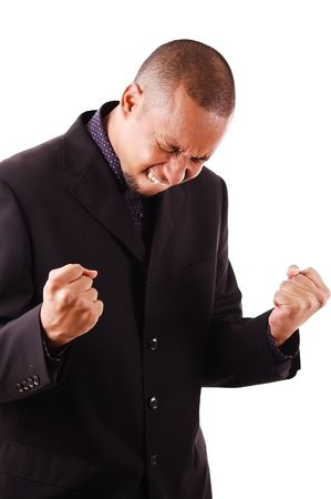 jubilation: This is an image an excited businessman. Stock Photo