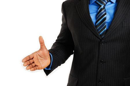 This is an image of business man offering a handshake. Success concept.