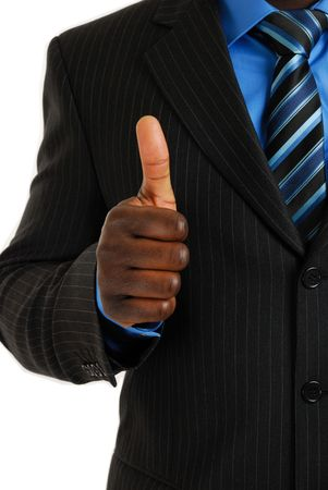 This is an image of business man giving thumbs up. Stock Photo - 4290058