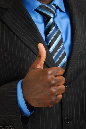 This is an image of business man giving thumbs up. Stock Photo - 4290055