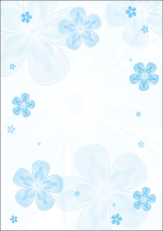 an abstract background with some transparent blue flowers