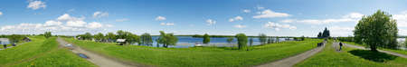panoramic photo made on Kizhi island on a bank of Ladozhskoe lake