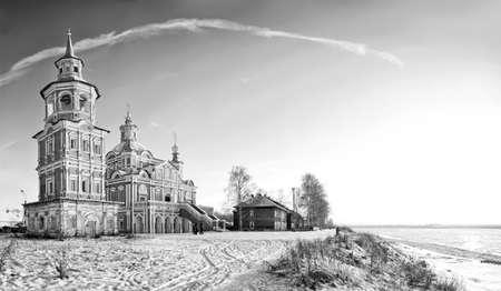 Panoramic of Simeon Stolpnik church in Great Ustjug