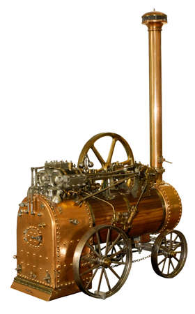 steam locomotives: model of an ancient steam engine
