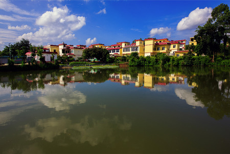 Beautiful village in Wuming, Guangxi Stock Photo