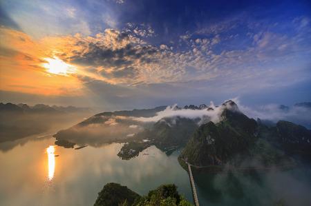 Scenery at the Hongshui River, Guangxi