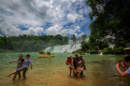 transnational: Detian transnational waterfall Editorial