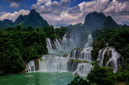 Detian transnational waterfalls Stock Photo