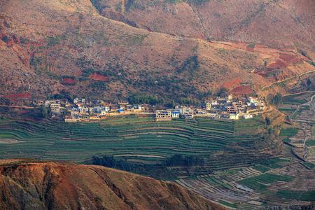 prov�ncia: Dongchuan Red Land, na prov Banco de Imagens