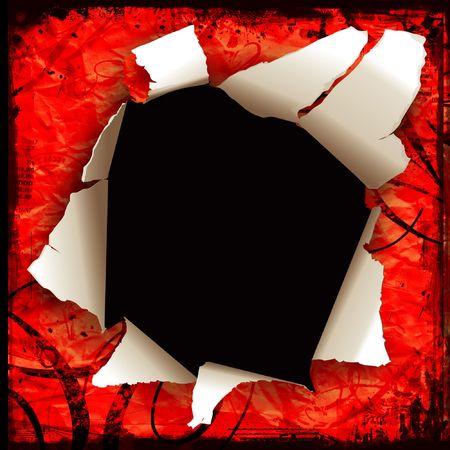spoiled frame: Hole