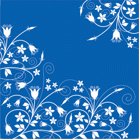 Vector floral background (Campanules)