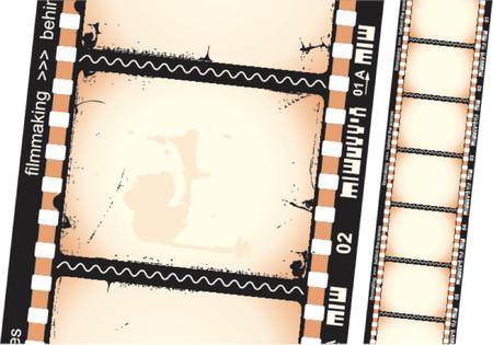 esporre: Filmstrip Vettoriali