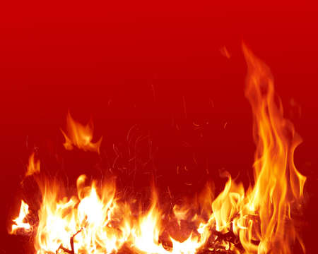 broil: Fire Stock Photo