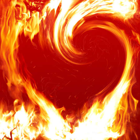 abstract fire: Blazing heart