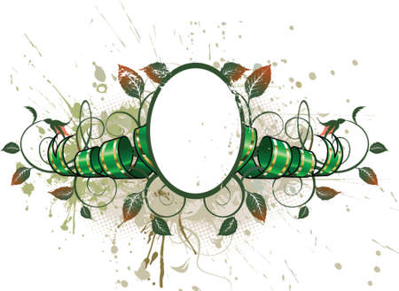 Grunge green ribbon Illustration