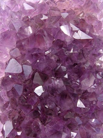 amethyst: photo of natural amethyst crystal structure Stock Photo