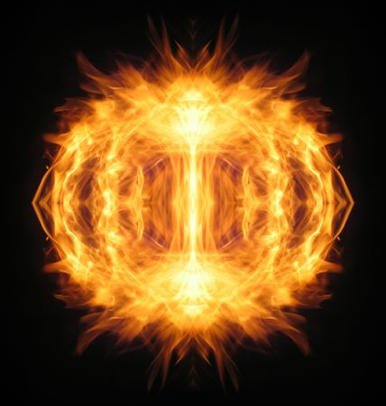 daemon: Fire illusion, photo-graphic abstraction