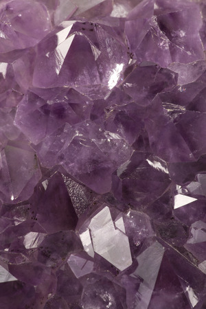 brilliancy: Photo of natural amethyst crystal structure