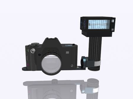metalized: SLR camera
