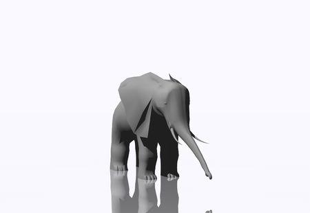 3d: 3D elephant