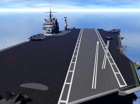 usn: Illustration of an aircraft carrier
