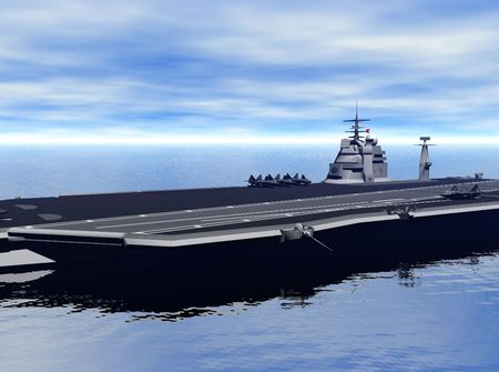 Aircraft Carrier Stock Photo - 4592273
