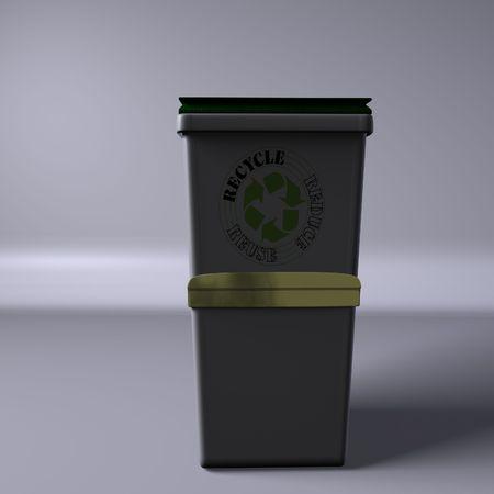 reciclar basura: Papelera de reciclaje