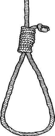 ahorcado: Concepto de nudo de verdugo
