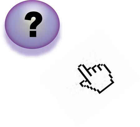 clic: Online Help Stock Photo