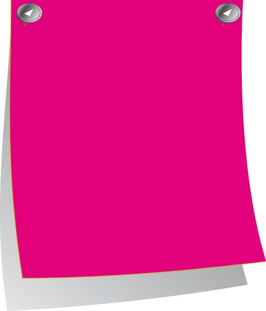 post it note: Pink Post-it