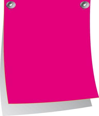 Roze post-it Stockfoto