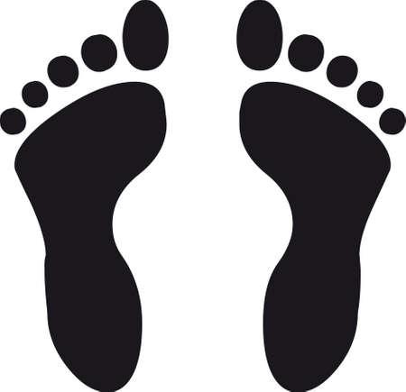 clip art feet: Footprint
